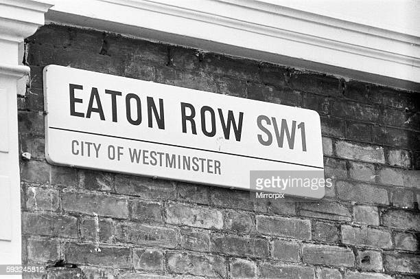 Eaton Row SW1 London location of mews home at the rear in Eaton Row where Lord Lucan lived Richard John Bingham 7th Earl of Lucan popularly known as...