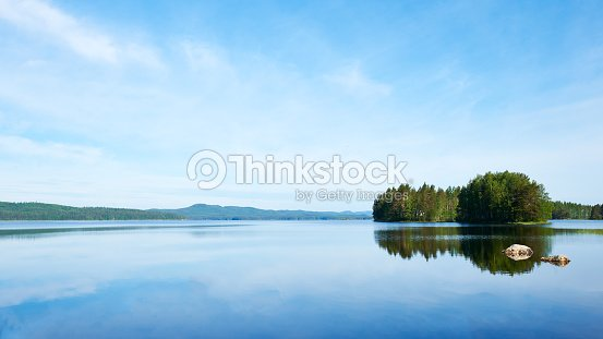 eautiful paisaje finlandesa : Foto de stock