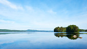 Beautiful Finnish Lake photographed in the bright Scandinavian summer