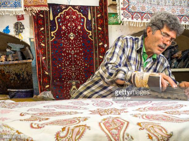 Ebadi Qalamkar workshop a block print workshop in Esfahan old town Known locally as qalamkar
