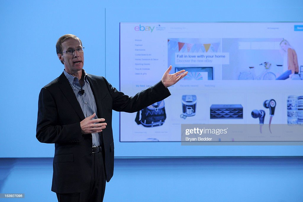 eBay Chief Technology Officer Mark Carges shows off cleaner, more contemporary web pages as part of the new eBay on October 10, 2012 in New York City.