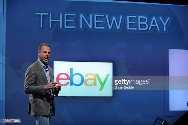 eBay President Devin Wenig introduces the new eBay Ð a personal global and mobile marketplace on October 10 2012 in New York City