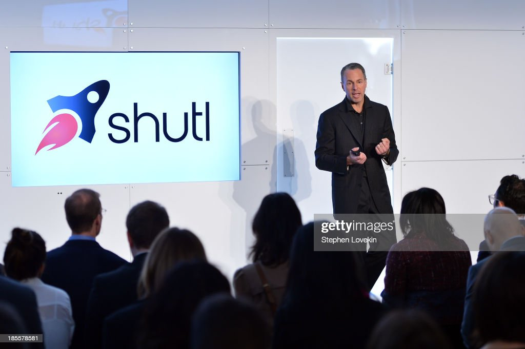 eBay president Devin Wenig speaks at eBays launch of new features during its Future of Shopping event at Industria Studios on October 22, 2013 in New York City.