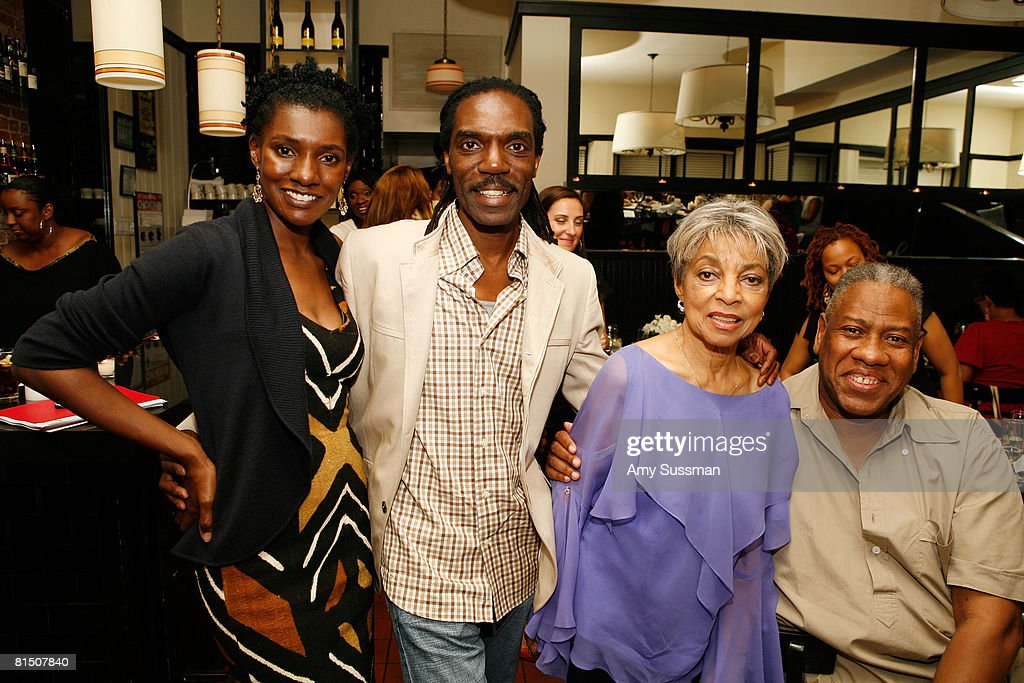 eBay Style Director Constance White, Kevan Hall, Ruby Dee and Andre Leon Talley attend a celebration of Ruby Dee's style at Melba's restaurant on June 9, 2008 in New York City.