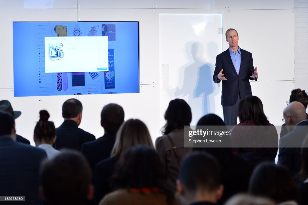eBay's chief technology officer Mark Carges speaks at eBays launch of new features during its Future of Shopping event at Industria Studios on October 22, 2013 in New York City.