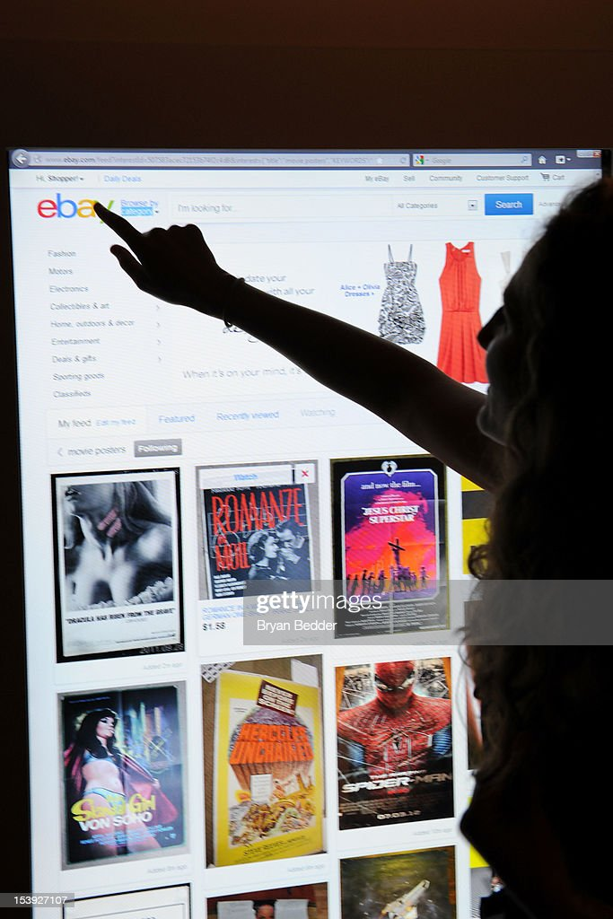 eBay's new Feed experience, which allows users to personalize their eBay homepage with their own favorite things, was unveiled on interactive touch screens at an event on October 10, 2012 in New York City.