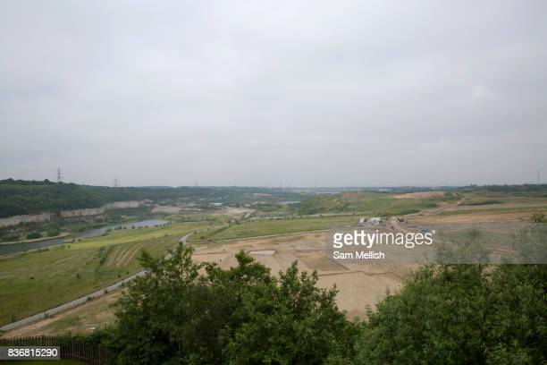 Ebbsfleet Garden City eastern quarry where new homes are being built on 09th July 2016 in Kent United Kingdom Ebbsfleet Development Corporation...