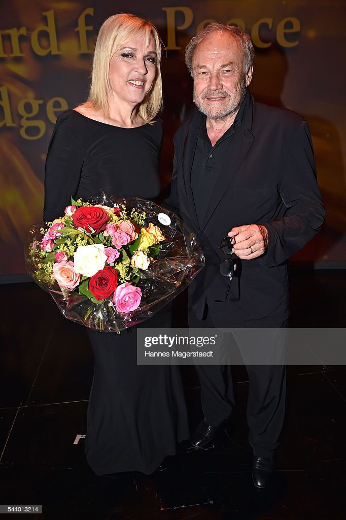 EBeate Merk and <a gi-track='captionPersonalityLinkClicked' href=/galleries/search?phrase=Klaus+Maria+Brandauer&family=editorial&specificpeople=796752 ng-click='$event.stopPropagation()'>Klaus Maria Brandauer</a> attend the Bernhard Wicki Award (Friedenspreis des Deutschen Films) during the Munich Film Festival 2016 at Cuvilles Theatre on June 30, 2016 in Munich, Germany.