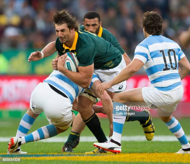 Eben Erzebeth of the Springbok Team during the Rugby Championship match between South Africa and Argentina at Nelson Mandela Bay Stadium on August 19...