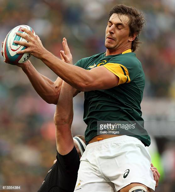 Eben Etzebeth of South Africa during the The Rugby Championship match between South Africa and New Zealand at Growthpoint Kings Park on October 08...