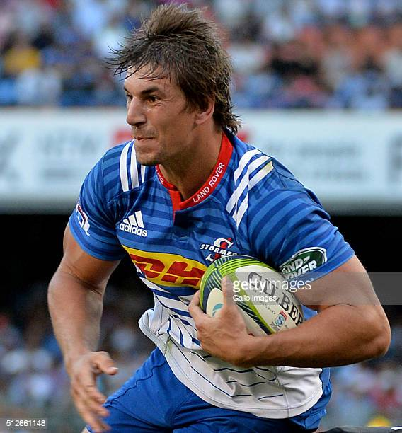 Eben Etzebeth of the Stormers during the Super Rugby match between DHL Stormers and Vodacom Bulls at DHL Newlands Stadium on February 27 2016 in Cape...