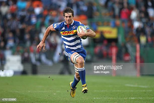 Eben Etzebeth of the Stormers on the attack during the Super Rugby match between DHL Stormers and Emirates Lions at DHL Newlands Stadium on June 06...