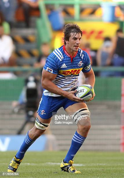 Eben Etzebeth of the Stormers on the attack during the Super Rugby match between DHL Stormers and Vodacom Bulls at DHL Newlands Stadium on February...