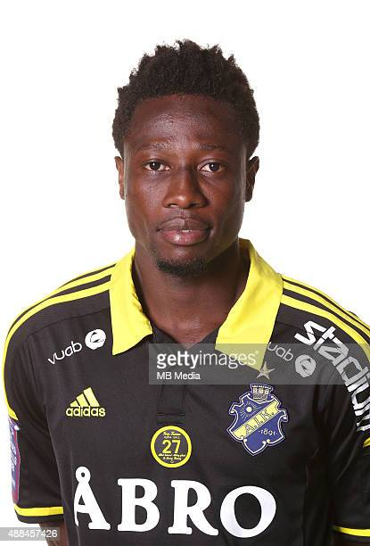 Ebenezer Ofori of AIK Solna poses during a portarit session on February 24 in StockholmSweden