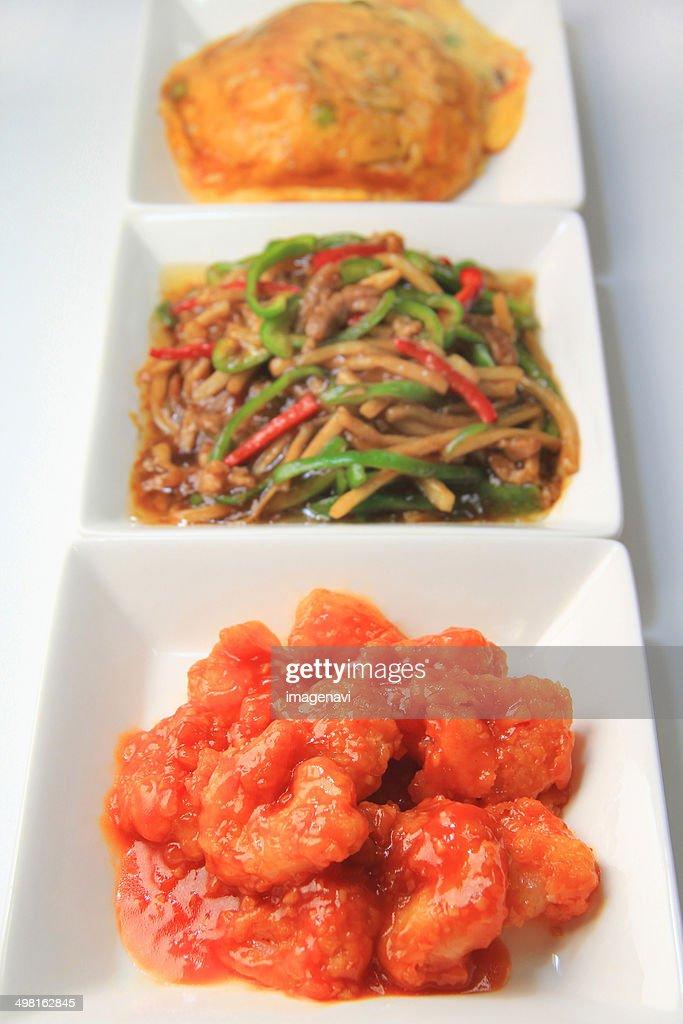 Ebi chili (Stir-fried shrimp in chilli sauce) : Stock Photo