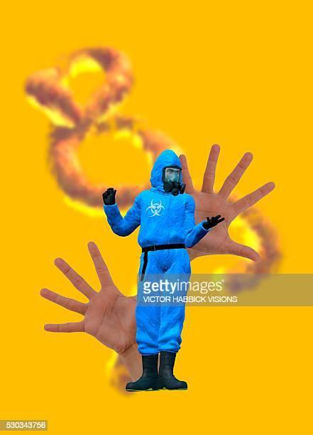 Ebola epidemic, conceptual image