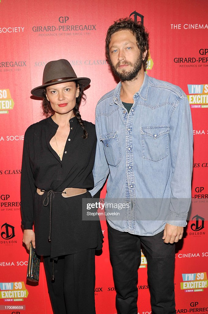 Ebon and Yelena Moss attend Girard-Perregaux And The Cinema Society With DeLeon Host a Screening Of Sony Pictures Classics' 'I'm So Excited' at Sunshine Landmark on June 6, 2013 in New York City.