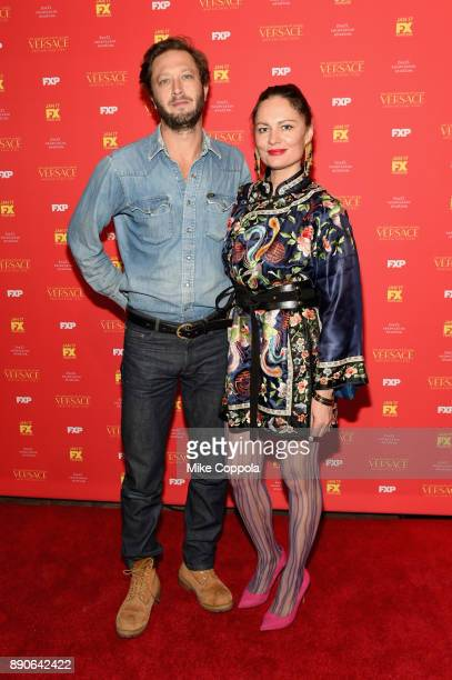 Ebon MossBachrach and Yelena Yemchuk attend 'The Assassination Of Gianni Versace American Crime Story' New York Screening at Metrograph on December...