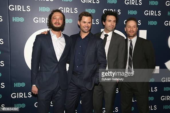 Ebon MossBachrach Andrew Rannells Alex Karpovsky and Jon Glaser attend The New York Premiere of the Sixth Final Season of 'Girls' at Alice Tully Hall...