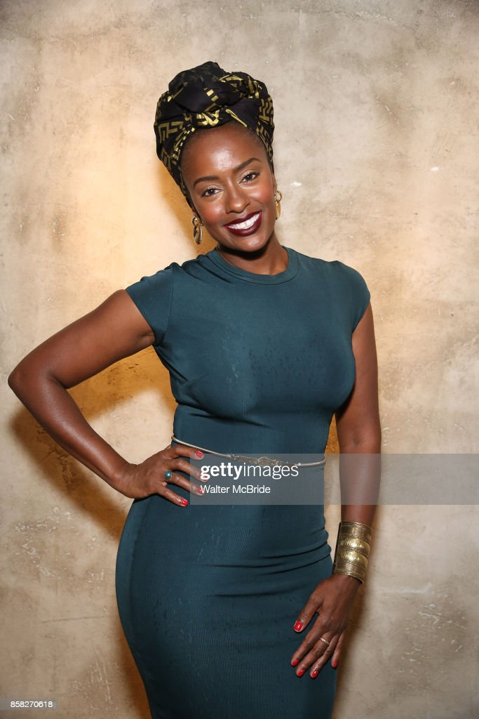 Eboni Flowers attends the Roundabout Theatre Company's Opening Night Party for 'Too Heavy For Your Pocket' at Burger and Lobster on October 5, 2017 in New York City.