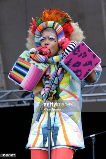 Ebony Bones performing on stage during Rock en Seine music festival on August 28 2009 in Paris France