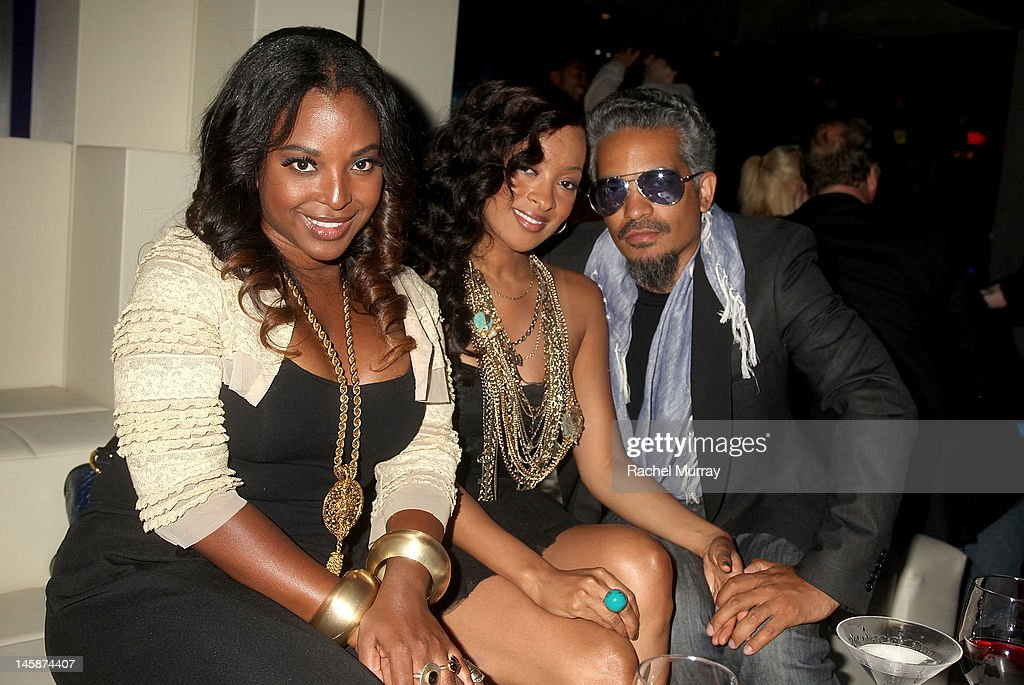 Ebony Brown, actress Jennia Fredrique, and Sol Aponte attend the VIP red carpet cocktail party hosted by WIKIPAD and NVIDIA as part of the celebrations for E3,2012 held at Elevate Lounge on June 6, 2012 in Los Angeles, California.
