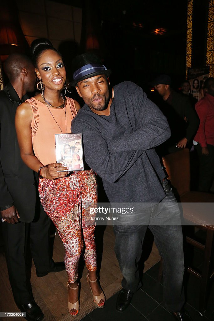 Ebony J Lewis and Tobias Truvillion attend The Unspoken Truth National Release Party at Taj Lounge on June 11, 2013 in New York City.