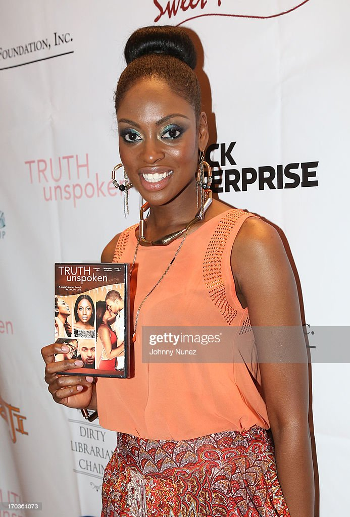 Ebony J Lewis attends The Unspoken Truth National Release Party at Taj Lounge on June 11, 2013 in New York City.