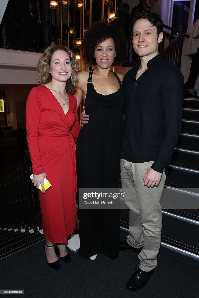 Ebony Molina Carrie Taylor Johnson and Tim Hodges attend the press night after party for 'Jekyll Hyde' at The Old Vic Theatre on May 25 2016 in...