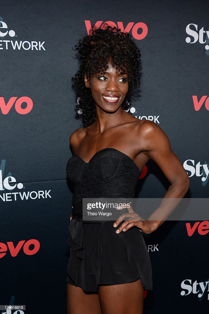 Ebony White attends the VEVO and Styled To Rock Celebration Hosted by Actress, Model and Styled to Rock Mentor Erin Wasson with Performances by Bridget Kelly & Cazzette on September 5, 2013 in New York City.
