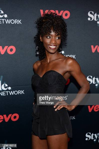 Ebony White attends the VEVO and Styled To Rock Celebration Hosted by Actress Model and Styled to Rock Mentor Erin Wasson with Performances by...