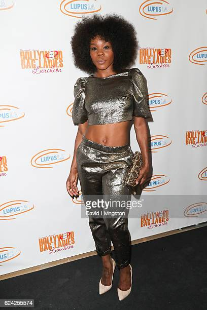 Ebony Williams arrives at the 14th Annual Lupus LA Hollywood Bag Ladies Luncheon at The Beverly Hilton Hotel on November 18 2016 in Beverly Hills...