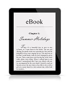 eBook reader isolated on white
