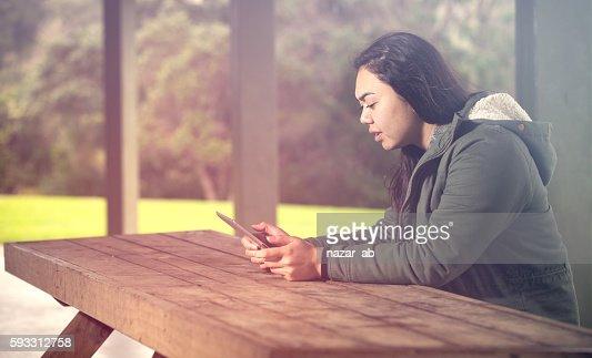 E-book reading. : Stock Photo