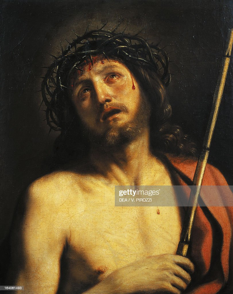 Ecce Homo, by Giovanni Francesco Barbieri, known as Il Guercino (1591-1666), oil on canvas, 65x53 cm. Rome, Galleria Nazionale D'Arte Antica Di Palazzo Corsini