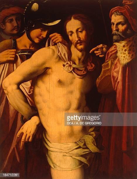 Ecce Homo painted by an unknown 16th century artist St Ambrose parish Uscio Liguria Italy 16th century