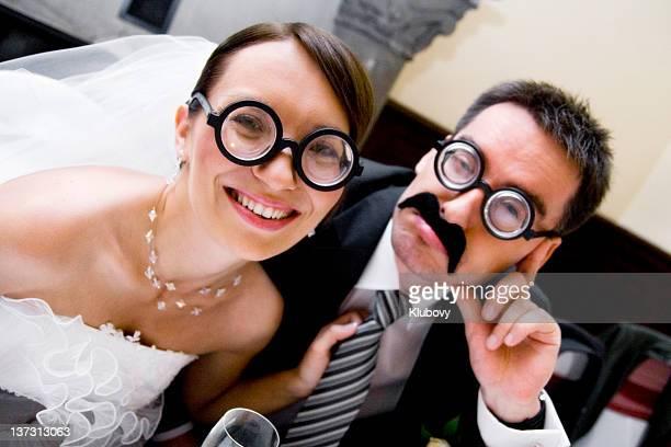 Excentrique couple de mariés