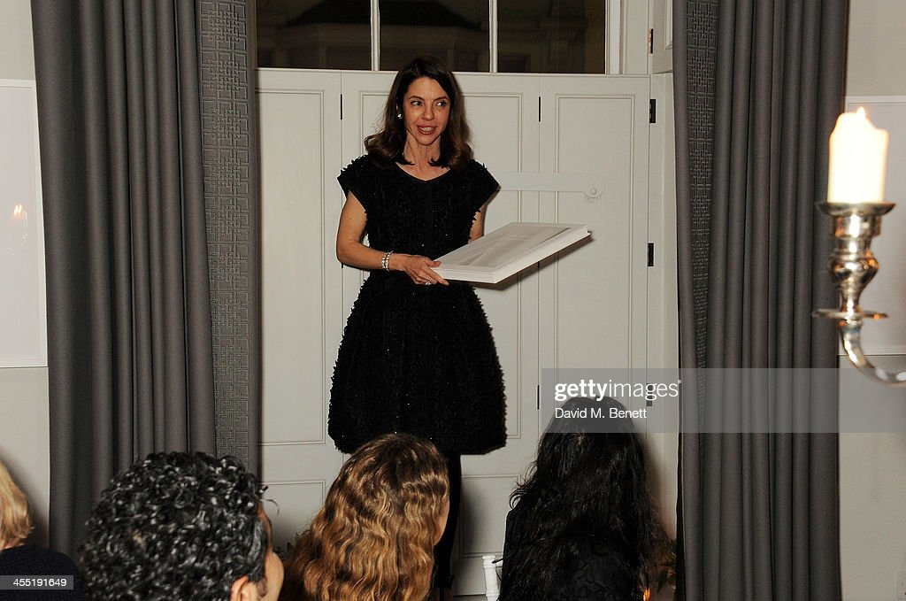 <a gi-track='captionPersonalityLinkClicked' href=/galleries/search?phrase=Ece+Ege&family=editorial&specificpeople=3077395 ng-click='$event.stopPropagation()'>Ece Ege</a> speaks at an intimate dinner hosted by ISTANBUL'74 to celebrate Dice Kayek's 'Istanbul Contrast' collection, winner of the Victoria & Albert Museum's Jameel Prize, and launch Dice Kayek's 'Instanbul Contrast' book, created and designed by ISTANBUL'74 with its creative agency '74STUDIO, at The Arts Club on December 11, 2013 in London, England.