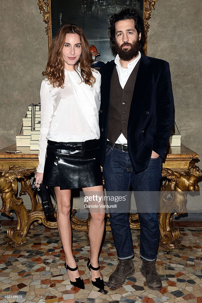 Ece Sukan and Umit Benan attend the 'Jo Malone London Scented' Dinner at Palazzo Crespi on November 26, 2013 in Milan, Italy.