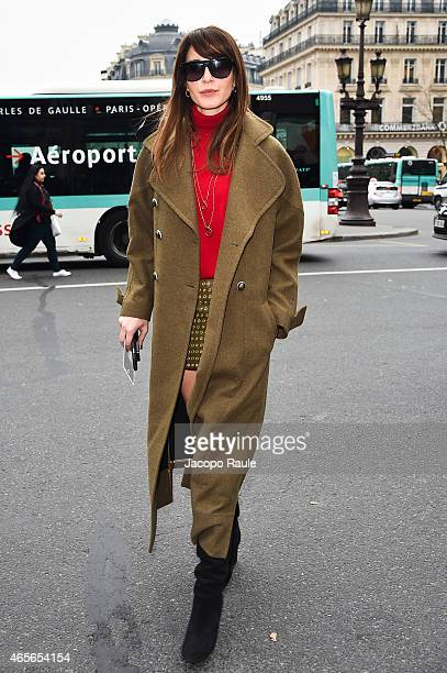 Ece Sukan arrives at Stella McCartney Fashion Show during Paris Fashion Week Fall Winter 2015/2016 on March 9 2015 in Paris France