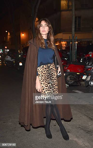 Ece Sukan arrives at the Gianbattista Valli fashion show Paris Fashion Week Haute Coture Spring /Summer 2016 on January 25 2016 in Paris France