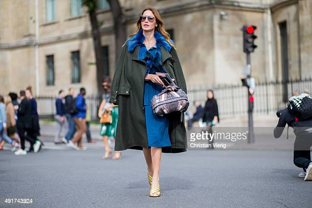Ece Sukan at Miu Miu during the Paris Fashion Week Womenswear Spring/Summer 2016 on Oktober 7 2015 in Paris France