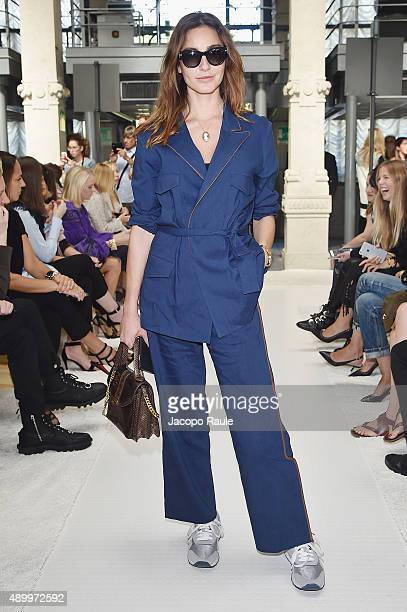 Ece Sukan attends the Giamba show during the Milan Fashion Week Spring/Summer 2016 on September 25 2015 in Milan Italy