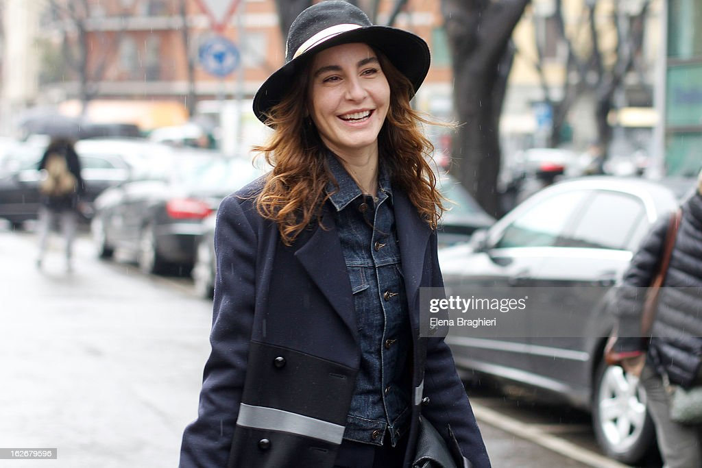 Ece Sukan attends the Milan Fashion Week Womenswear Fall/Winter 2013/14 on February 25, 2013 in Milan, Italy.
