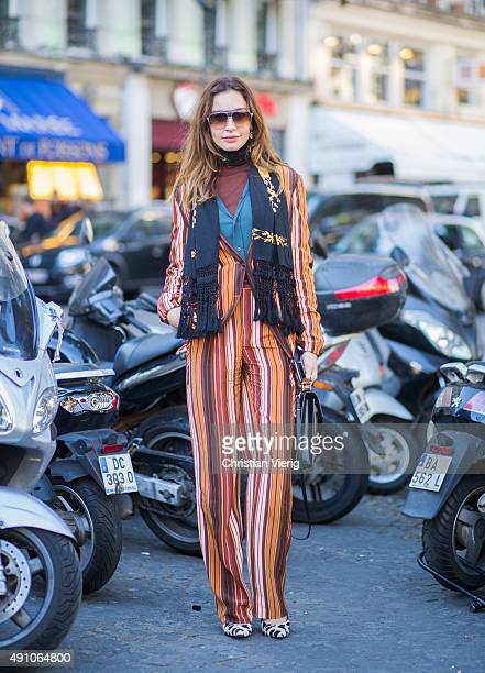 Ece Sukan during the Paris Fashion Week Womenswear Spring/Summer 2016 on October 2 2015 in Paris France
