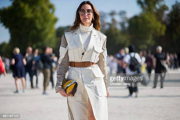 Ece Sukan during the Paris Fashion Week Womenswear Spring/Summer 2016 on October 3 2015 in Paris France