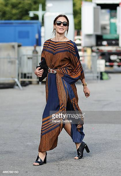 Ece Sukan is seen outside the 31 Phillip Lim show during New York Fashion Week 2016 on September 14 2015 in New York City