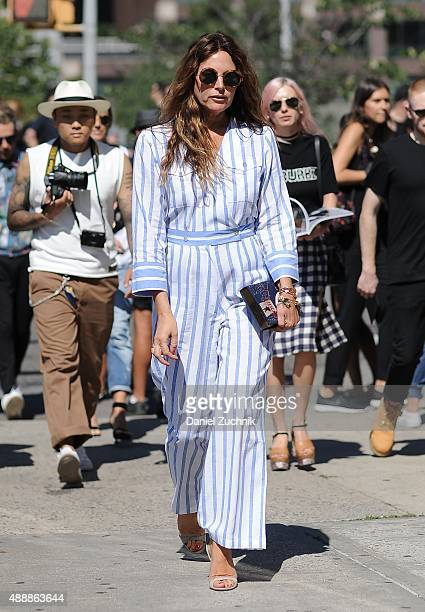 Ece Sukan is seen outside the Calvin Klein show during New York Fashion Week 2016 on September 17 2015 in New York City