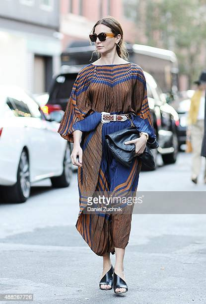 Ece Sukan is seen outside the Thom Browne show during New York Fashion Week 2016 on September 14 2015 in New York City