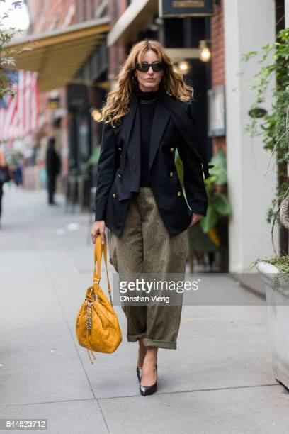 Ece Sukan seen in the streets of Manhattan outside Jason Wu during New York Fashion Week on September 8 2017 in New York City